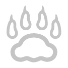 Lutande klösbräda med tassdekor