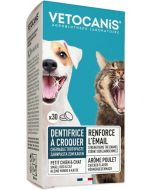 Dental tuggtabletter med fluor till hund och katt