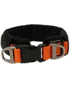 Dogman Halsband Emmi Orange. Brett halsband med skön vaddering.