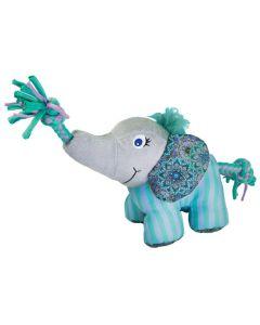 Kong Knots Carnival Elephant. Mjuk elefant med tuggrep.