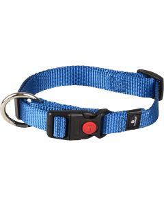 Flamingo. Hundhalsband Ziggi Blå. Halsband med dragavlastning och säkerhetslås.