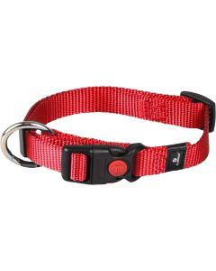 Flamingo. Hundhalsband Ziggi Röd. Halsband med dragavlastning och säkerhetslås.