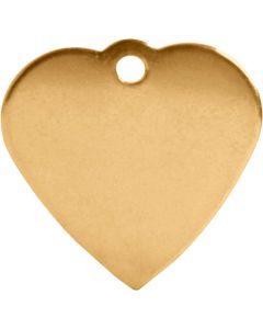 ID-Bricka Hjärta. Dekorativ ID-bricka med valfri gravyr.