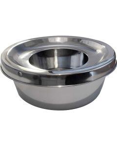 Mitzo. Vattenskål Rostfri Anti-Spill. Rostfri vattenskål till hund.