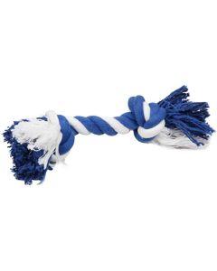 Hansbo Sport. Flosstugg Blå/Vit 25cm. Klassiskt flossrep med knut.