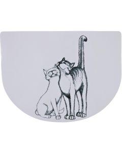 Fint underlägg med två kelande katter