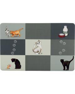 Matskålsunderlägg med fint kattmönster