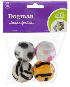 Tystrullande plastbollar för katt