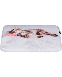 Söt dyna med kattmotiv, för hyllor och fönsterbrädor
