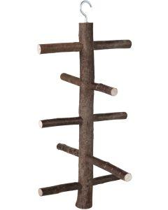 Klätterstege i trä med fem steg