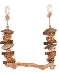 Gunga med naturlig form och träkrokar