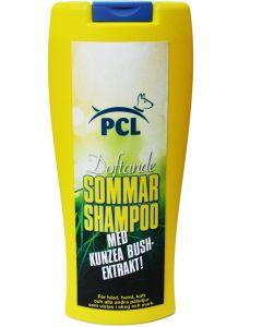 Sommar shampoo för djur som vistas i skog och mark