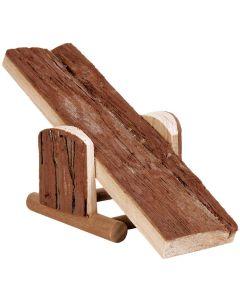 Vippbräda av naturligt trä med bark