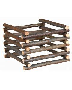 Fristående och hopfällbar höhäck av trä