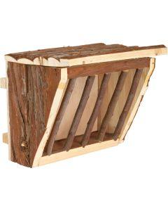 Trevlig höhäck av trä med lock och skruvfäste