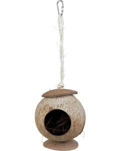 Exotiskt smådjurshus av naturlig kokosnöt