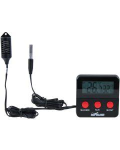 Termo- och hygrometer med extra lång kabel