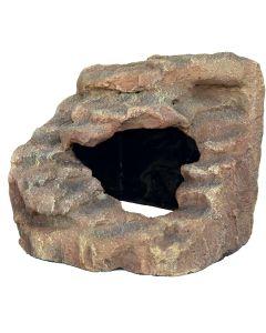 Hörnsten med plattform och grotta