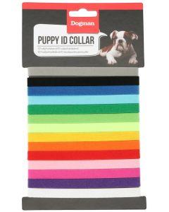 Dogman Valphalsband 14-pack. ID halsband till valpar.
