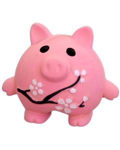 Supersöt gris med blommor och pipljud