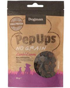 Dogman Pep Ups No Grain Lamb. Mjuka belöningsbitar med lamm.