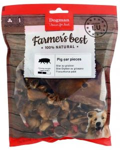 Hundtugg. Mixpack med grisöron i bitar.