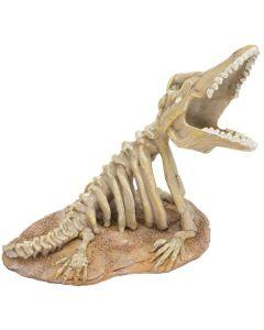 Läskigt och detaljrikt skelett för en spännande miljö