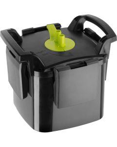 Aquael Maxi Kani 150. Ytterfilter med fristående pump och filterkapsel.