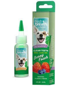 Tandgel som inte kräver tandborste med bärsmak