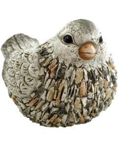 Fågel formad utomhuskruka med granit