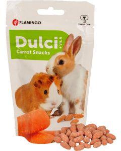 Flamingo. Dulci Carrot Snacks. Krispig och mumsig godis till smådjur.
