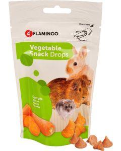 Flamingo. Fruit Snack Drops Carrot. Yoghurt godis till smådjur.