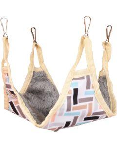 Flamingo. Hamster Hammock Clavio 27cm. Mysig och bekväm sovplats som håller ditt smådjur varm.