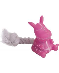 Flamingo Leksaksdjur med Rep. Liten vinylleksak med roliga djurformer.