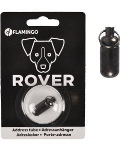 Flamingo. Rover Address Tube Mörkgrå. Stabil adresstub till hund.