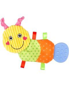 Valpleksak Pippo Fjärilslarv. Färgglad leksak med prassel.