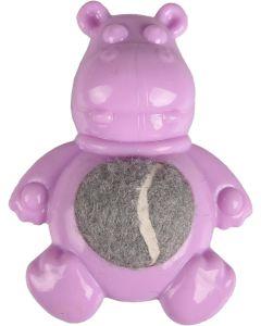 Flamingo. Valpleksak Loekie Flodhäst. Liten leksak för små hundar och valpar.