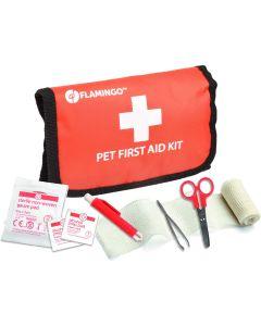 Flamingo. Pet First Aid Kit Basic. Liten första-hjälpen väska för husdjur och djurägare.
