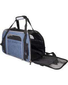Flamingo. Transportväska Gisel Blå 48cm. Väska för små husdjur som kanin, katt och liten hund.