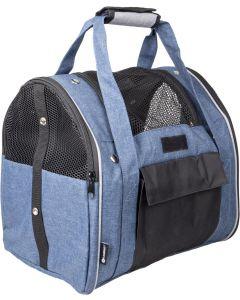 Flamingo. Väska 2in1 Lenie Blå 36cm. Flexibel transportväska som kan användas som en ryggsäck.