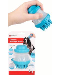 Flamingo. Borste Clean & Massage Hilda. 2-in-1 borste för rengöring och massage.