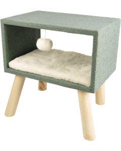 Resting Place Scandi Cube Grön. Mysig relax koja för små katter.