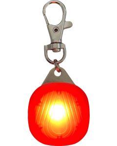 Safety Disc Transparent Red. Synlig LED reflexlampa med 3 ljuslägen.