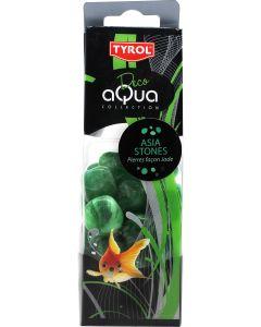 Tyrol Aqua Deco Green Stones. Vackra dekostenar i vacker färg.
