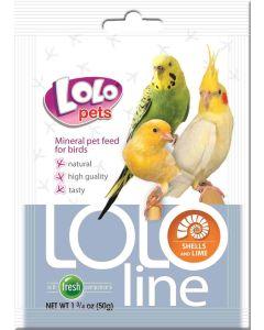 Lolo Mineral Calcium Birds 50g. Tillskottsfoder med kalcium.
