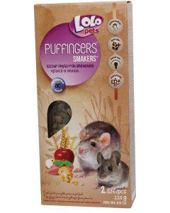 Lolo Puffingers Mus/Råtta. Mumsiga kräcker som är bra för tänderna.