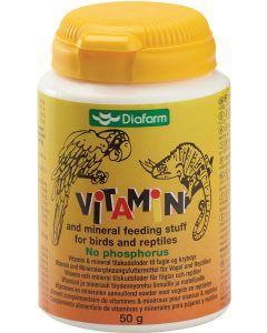 Vitamin och mineraltillskott för fågel och reptiler
