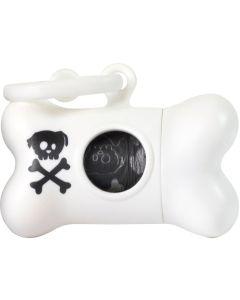 United Pets Bon Ton Skull Vit. Cool påsehållare med pirat-look.