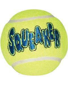 Stor tennisboll med pipljud för hund