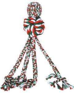 Hållbar flosstugg i julens färger